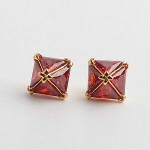 Henri Bendel Square Zircon Stud Earrings